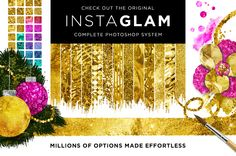 Check out Gold Style ♥ Illustrator + InstaGlam by Jessica Johnson on Creative Market #goldfoil #printables #templates http://crtv.mk/co69