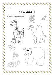 Big Small Worksheet