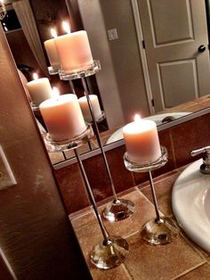 Crystal candle sticks.
