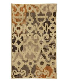 Take a look at this Mohawk Home Azur & Ivory Rug by Color Trend: Orange on #zulily today!