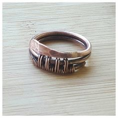 The listing is for one woven copper band ring - a beautiful friendship gift symbolizing the binding between true friends. This boho ring is entirely handmade, hammered for more strength, antiqued and polished by hand. This is a minimalistic ring, fits even for a person who usually dont wear jewelry being very comfortable and light, yet very sustainable. Measurements: this ring is US size 6 3/4, but it can be made to order in any size.