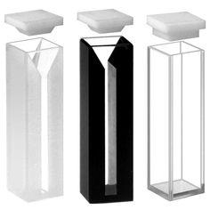 Microcubeta quartzo quadrada, 10 Mm, laterais pretas, volume 0,7 ml BioClassi