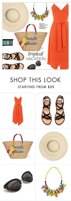 """Welcome to Paradise: Tropical Vacation"" by christinacastro830 on Polyvore featuring Warehouse, Kayu, Accessorize, MAC Cosmetics and TropicalVacation"
