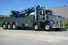 KW and a miller rotator. Kenworth T800, Kenworth Trucks, Peterbilt, Show Trucks, Big Rig Trucks, Heavy Duty Trucks, Heavy Truck, Towing And Recovery, Train Truck