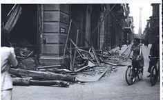 Bologna bombardata, via Ugo Bassi, angolo via Nazario Sauro