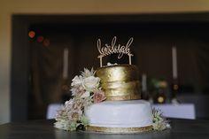 Gold Wedding Cake | SouthBound Bride www.southboundbride.com/organic-jewel-tone-wedding-at-roodezand-by-heather-steyn-photography-yolandi-benjamin Credit: Heather Steyn