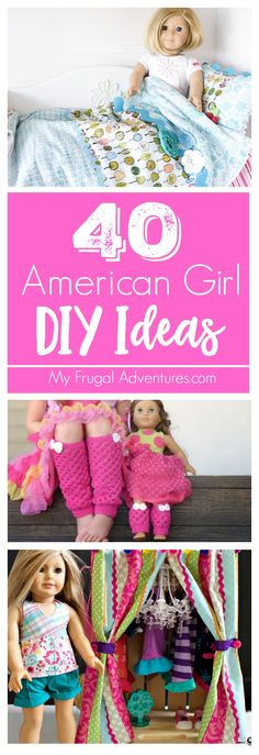 40 Adorable DIY Ideas for your American Girl Doll. Perfect homemade gifts!