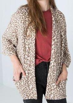 Bershka leopard print kimono three quarter sleeve