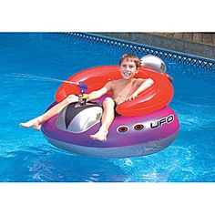 @Overstock - Swim Time UFO Spaceship Float - Retro styling makes this inflatable ride-on really fun. The UFO float comes equipped with its own 'ray' squirt gun with bright colors and heavy-gauge vinyl construction.    http://www.overstock.com/Sports-Toys/Swim-Time-UFO-Spaceship-Float/5748809/product.html?CID=214117  $35.99