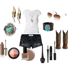 Cowgirl up.. thiswould be a great outfit to wear to a sumer concert!