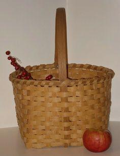 Large Vintage Old Handmade Basket by aprimitiveplace on Etsy, $28.00