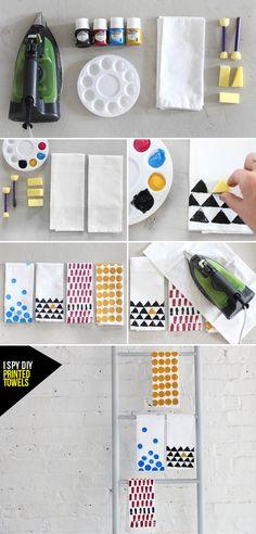 MY DIY | Printed Towel | I SPY DIY