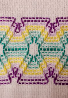 Huck Weaving or Swedish Embroidery Embroidery Stitches Tutorial, Sashiko Embroidery, Embroidery Patterns, Bead Loom Patterns, Cross Stitch Patterns, Cross Stitches, Swedish Weaving Patterns, Swedish Embroidery, Chicken Scratch Embroidery