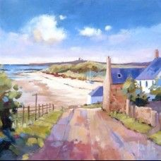 x Distant Dunstanburgh. Open edition giclee print, signed and titled by the artist. Landscape Art, Landscape Paintings, Oil Paintings, Landscapes, Seaside Theme, Academic Art, Naive Art, Painting & Drawing, Giclee Print