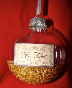 Felix Felicis ornament - Katie I think your friend will love this