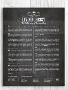 LDS The Living Christ print  11x14 or 8.5x11 by PicadillyLime