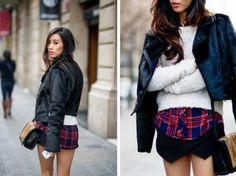 In Barcelona by Jenny Ong on Fashion Indie Indie Fashion, Fashion Outfits, Fashion Trends, Black Faux Fur Jacket, Layered Fashion, Warm Weather Outfits, Fashion Essentials, Skort, Personal Style