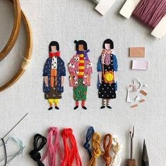 embroidery magic by nona kecil Hand Embroidery Projects, Hand Embroidery Stitches, Hand Embroidery Designs, Embroidery Art, Hand Stitching, Embroidery Patterns, Redo Clothes, Textiles, Embroidery Stitches