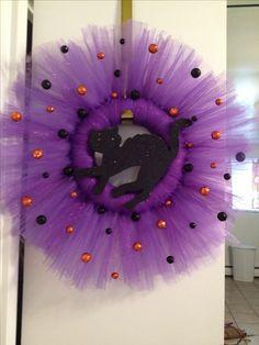 Halloween Tulle Wreath   Olivia Cortese
