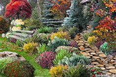 Projekt ogrodu:Wrzosy i jesiene roże... - Jesień