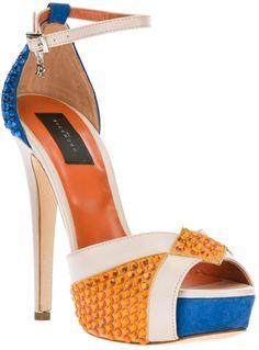 a779ec7d32d0 John Richmond - Multicolor Crystal Embellished Sandal - Lyst. Socks And  SandalsShoes Heels ...