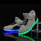 A0008 Big Kids LED Light Up Shoes High Top Yeezied Shoes For Sale - Flashing.Shoes - 6