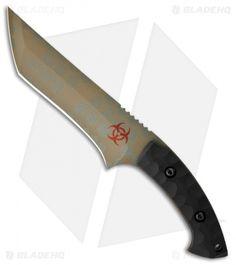 """Barrett Custom Knives Imperius Tanto Biohazard Fixed Blade Knife (6.25"""" Plain)"""