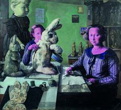 """II Nagroda_Ewa Skaper, Gloria w Fabryce Misiów,  fot. Jacek Rojkowski 41. Biennale Malarstwa """"Bielska Jesień 2013"""". http://artimperium.pl/wiadomosci/pokaz/81,surrealistyczna-i-barokowa-bielska-jesien-2013#.Un5IRflWySo"""