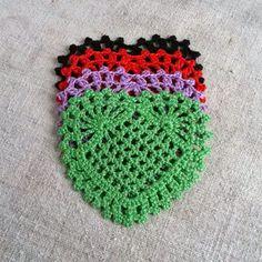 Big handmade crochet heart Appliques shapes hearts by MyWealth