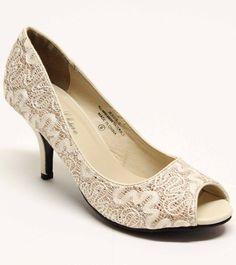 00f3746b0fc6 Shoes · Fashionaras.Com - Jessie-3 Lace Open Toe Low Heel Pump