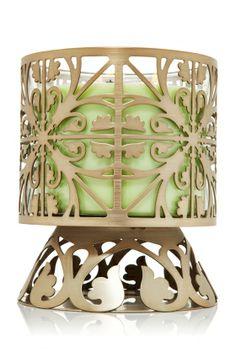 Garden Gate 14.5 oz. 3-Wick Candle Sleeve Pedestal - Slatkin & Co. - Bath & Body Works