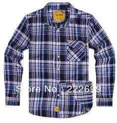Aliexpress.com : Buy Weekly Clearance 20131021 Free Shipping Deep Blue  Men Flannel Plaid Shirts from Reliable shirt neck suppliers on Guccn $22.23 Plaid Shirts, Plaid Flannel, Casual Shirts, Flannels, Hi Fashion, Mens Fashion Suits, Fashion Outfits, What Should I Wear, England Fashion