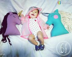 Unicorn plush doll purple gold nursery decor unicorn pillow
