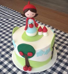red riding hood, sugar art, sugar paste, fondant