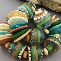 Magma Beads ~Daintree~ Handmade Lampwork Beads. #Lampwork