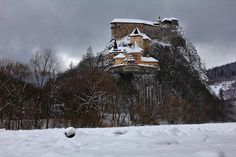 Orava Castle  #Slovakia #castle Heart Of Europe, Central Europe, Bratislava, Dracula, Medieval, Chateaus, Architecture, Towers, Castles