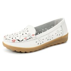 SOCOFY Women Soft Leather Flat Shoes Hollow Out Flower Floral Moccasins Ballet Flats  Worldwide delivery. Original best quality product for 70% of it's real price. Hurry up, buying it is extra profitable, because we have good production sources. 1 day products dispatch from warehouse. Fast...