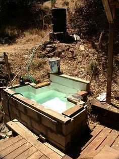 """My Home Made Wood Fired Hot Tub."" -Seems doable"