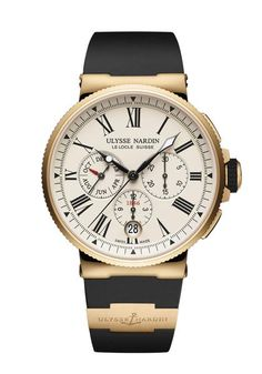 Wrist Chronograph and small seconds registers. Annual calendar backward/forward setting with months counter at 9 o'clock. Oster Jewelers Is An Authorized Ulysse Nardin Retailer Mens Rose Gold Watch, Le Locle, Breitling Superocean Heritage, Atelier D Art, Breitling Watches, Jewelry Show, Watches For Men, Jewels, Men Watches