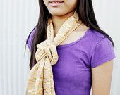 Woven Scarf (Mustard and Cream, by Pwe Loe)