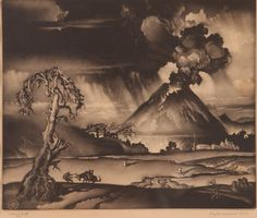 "Reynold Weidenaar (1915-1985) - ""Valley of Wrath"""