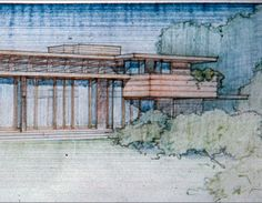 Bachman-Wilson House / 1423 Millstone River Road, Millston, New Jersey / 1954 / Usonian / Frank Lloyd Wright --