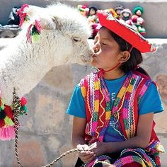 Colorfull people from the Andean, Peru