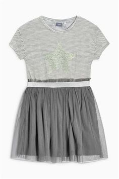 Buy Charcoal Star Mesh Dress (3-16yrs) from the Next UK online shop