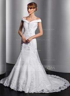 2f25036342765 Wedding Dresses -  196.99 - Trumpet Mermaid Off-the-Shoulder Chapel Train  Organza