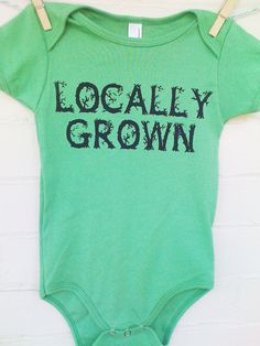 Cotton Screen Printed Baby Onesie  Locally Grown by TheCoinLaundry, $18.00     http://www.etsy.com/treasury/MTI1MTY1OTB8MjcyMDcyMzc1MQ/itsy-bitsy-baby-bodysuits?utm_source=OpenGraph_medium=PageTools_campaign=Share
