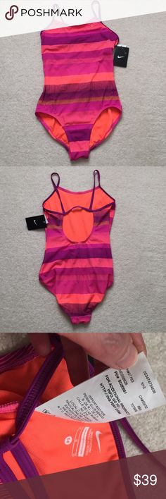 NWT Nike One Piece Swimsuit NWT Nike swimsuit Fire Pink/ Rose Color. Size 14 Nike Swim One Pieces