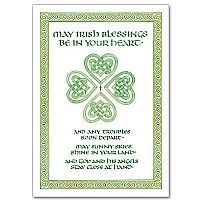 irish blessing cards for st patty's day. put in a cute mason jar with lots of green stuff.