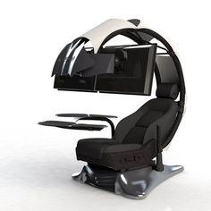 Surprising gaming desk setup you'll love Ergonomic Computer Workstation, Gaming Computer Setup, Computer Station, Gaming Room Setup, Computer Rooms, Computer Gadgets, Computer Build, Gaming Pcs, Computer Programming