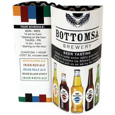 Restaurant Marketing Idea - These custom printed Wave table tents promote your drink Specials! Customize the entire design with your own artwork - 4 color printing on both sides.   On The Ball Promotions